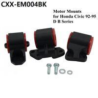 Wholesale b16 civic - Aluminum Engine SWAP MOUNTS KIT for 92-95 HONDA EG CIVIC D16 B16 B18 B20 Black EG D-SERIES B-SERIES CXX-EM004BK