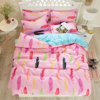 Wholesale Cheap Luxury Bedding Sets - Wholesale Luxury 3d oil painting cheap cotton bedding set violet red queen size 4pcs  sets comforter  duvet covers bed sheet bedclothes set
