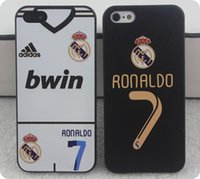 Wholesale Cristiano Ronaldo Iphone Cover - 2015 Fashion 7# Cristiano Ronaldo star Phone Soccer Futbol Case For Iphone 5 4S 4 IPhone Cover Madri Football Shell