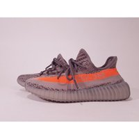 Wholesale Design Tables Cheap - Cheap SPLY-350 Boost V2.0 Beluga BB1826 Kanye West New Design Men Women Shoes 350 V2.0 True Boost Wide Sole Grey Orange Stripe Size10.5