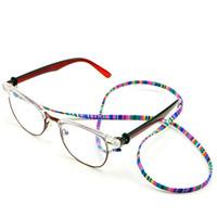 cou de lunettes achat en gros de-Mode rétro lunettes lunettes de soleil coton cou chaîne cordon retenue sangle lanière titulaire avec une bonne boucle en silicone F0157