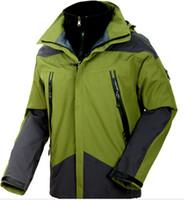 jaquetas à prova d'água venda por atacado-2016 chegada nova homens ao ar livre esporte casaco com capuz jaqueta de esqui correndo casaco de escalada outerwear casaco de pesca casaco de campismo à prova d 'água