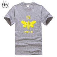 Wholesale Cook T Shirts - HanHent Breaking bad Yellow Bee Printing T-Shirt Men Heisenberg Cook Tee shirt Cotton Loose T shirts Swag Clothes Hiphop