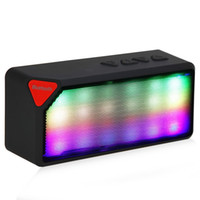 Wholesale Mini X3S Colorful LED Lights Pulse Built in mic Wireless Bluetooth Speaker Support Handsfree TF AUX FM Radio for Smartphone