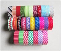 Wholesale Mixed Washi - 1.5cm x 5y Washi Tape Japanese Paper Masking Tapes for DIY Craft Scrapbook - mixed designs 20 rolls lot wholesale free shipping