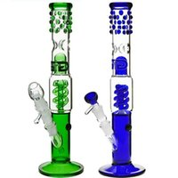 "Wholesale Pipe Guard - Grace Glass Bong ""Slender Sarah"" fashion designed coil Percolator water pipe with splash guard 16""Glass On Glass 14mm Downstem"