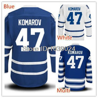 Wholesale Cheap Sale Hockey Jerseys - Factory Outlet, 2015 hot sale cheap 47 Leo Komarov Jersey Home Blue Road White Men's Leo Komarov Hockey Jerseys Pure Cotton Top Quality