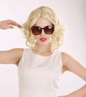 Wholesale Sexy Girls Short Hair - 2015 Hot Sexy Short Big Wavy Hair Wigs For Women Light Blonde Wigs Synthetic Hair Full Wigs Peruca Cosplay Wig