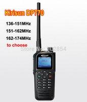 Wholesale Kirisun Digital - Wholesale-Free shipping matrix True Color Display KIRISUN DP770 analog digital walkie talkie VHF 136-151MHz DMR portable GPS radio