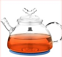 Wholesale Tea Induction Cooker - Electrical Induction cooker high temperature resistant glass pot high borosilicate glass teapot jar without poison bottle cup kettle