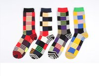 Wholesale Red Mens Dress Socks - mens dress socks plaid mens socks basketball cotton Knee High Business basketball socks for men cotton sports athletic long socks BY0000