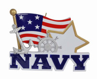 Wholesale Navy Souvenirs - American Navy Military Hanging Personalized Hand Painted Diy Resin Craft Souvenirs For Holiday New Year Gifts or Home Decoration