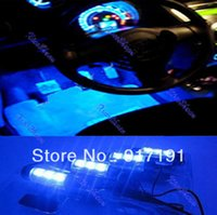 Wholesale Led Floor Tracking - Free Shipping Car 4 Unit LED Blue Floor Decoration Interior Light 12V order<$18no track