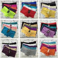 lady underwear großhandel-Mixed Perspective Lace Underwear Heißer Verkauf! 30+ Farben Dame Sexy Lace Panties Frauen Slips Nahtlose Unterwäsche Tanga Qualität Höschen S / M / L / XL