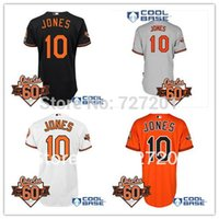 Wholesale Adam Jones Jersey - 2016 Cheap Baltimore Orioles Baseball Jersey #10 Adam Jones Cool Base Jersey w Commermorative 60th Anniversary Patch,Embroidery Logos