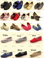 Wholesale Canvas Shoes Pattern - 2015 Dorp shipping brand men's Women's casual solid canvas shoes, EVA flat pattern stripes lovers Glitter shoes Classic canvas shoes