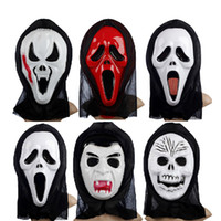 Wholesale Terror Mask Film - Halloween Terror Grimace Volto Mask Novelty Full Face PVC Screaming Skeleton Devil Cosplay Mask Masquerade Party Supplies 10pcs lot SD314