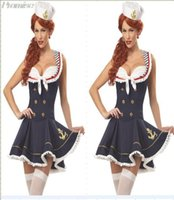 Wholesale Sailor Clothes For Girl - Wholesale-New Arrival Halloween Costumes for Women Cosplay Navy sailor costume sexy girl dress uniforms role playing female clothing