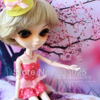 Wholesale Bjd Tangkou Doll - Wholesale-Free Shipping Fashion Light Yellow Bob Wig For Tangkou   Blythe Dolls, SD   BJD Doll Accessory, 27cm Head Circumference
