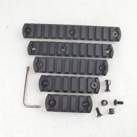 Wholesale Picatinny Handguard - 5,7,9,11,13 slot CNC Aluminum Picatinny Weaver Rail Section for Keymod handguard
