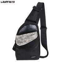 Wholesale Lather Shoulder Bags - Lauff men's chest pack shoulder messenger bag lather-bag waist bag one shoulder's bags fashion free shipping