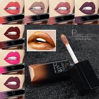 Wholesale matte purple lipstick for sale - Pudaier New Makeup Waterproof Lip Gloss Matte Liquid Lipstick Women Cosmetics Makeup Nude Purple Black Rose