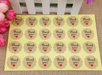 Wholesale Love Box Cake - 500pcs 3cm Thank You Labels love self-adhesive stickers Label Baking Seal Label For DIY Hand Made Gift  Cake  Candy Boxes Craft