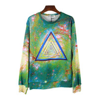 Wholesale Galasy S - double printed Autumn men hoodies sportswear women hoodie 2014 New 3d hoody galasy Geometry pullover tracksuit