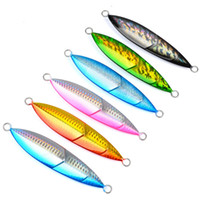 6PC Jigging pesce piombo 150G / 13CM Metallo Jig Fishing Lure Paillette Lama Wobbler Artificiale Duro