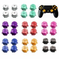 Wholesale Bullet Buttons Ps4 - Hot Sale High Quality Universal Aluminum Metal Bullet Buttons For PlayStation 4 For PS4 Gamepad Controller Accessories