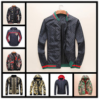 Wholesale Button Gradients - New Italy Luxury Fashion Brand print Long Sleeve hooded jacket Men's Casual windbreaker jackets Tiger printing man clothing M - 3XL