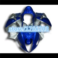 Wholesale Silver Blue Gsxr Fairings - 100%NEW Blue silver full Fairing for Hayabusa GSXR1300 96-07 GSX-R1300 1996-2007 GSXR 1300 96 07 1996 2007 body kit