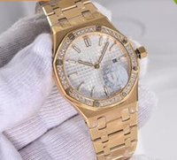 Wholesale Sapphire Yellow Gold Cheap - Rose gold diamond bezel date Promotion cheap automatic Selling fashion new brand women watch stainless steel wristwatch Women's Watches