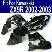 Wholesale kawasaki zx9r black - Free Customize for Kawasaki ZX9R fairing kit 2002 2003 glossy black fairings kits ninja ZX-9R 02 03 ZX 9R DH4