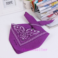 Wholesale new paisley design bandana for sale - Group buy DHL Shipping NEW PAISLEY DESIGN BANDANA COTTON BIKER COW BOY GIRL NECK SCARF WRIST WRAP Skull head bandana