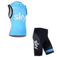 Wholesale Hot Pink Men S Vest - hot 2015 blue outdoor cycling Sleeveless Jersey sleeveless Shirt cycling Shorts ciclismo maillot Cycling vest Sports short kits