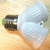 Wholesale Use Ball Lamp Light - New E27 to 2 E27 Holder Light Lamp Bulb Adapter Converte 2E27 Lamp Holder Converter Corn Candle Ball Bulb lighting Use