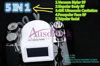 Wholesale Mini Cavitation Slimming Machine - Mini 5in1 40K Ultrsonic liposuction Cavitation RF Slimming machine Tripolar Bipolar Vacuum Radio frequency weight loss Cellulite equipment