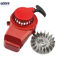 Wholesale Starter For Pocket Bike - GOOFIT Alloy Motorcycle Pull Start Recoil Starter with Flywheel for 47cc 49cc Pocket Dirt Bike Mini ATV K070-126-1 order<$18no track