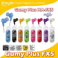 Wholesale Headphones For Iphone Price - Gumy Headphones Earphones HA FX5 earphone Gumy Plus inner ear headphones with comfortable fit sound-isolation without mic factory price