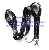 envío gratis - Comercio al por mayor - 10pcs Kuromi Lanyard Styles Key Chain ID Badge Holder Protector 18