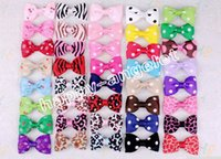 "Wholesale Baby Hair Clips Leopard - 15pc 2.5"" baby toddler Leopard lollipop cherry small Hair Bows Alligator Clip Mixed style flower hairpin hair bobbles accessoriesHD3375"