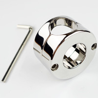 Wholesale Scrotum Ball Weights - Stainless steel Ball Weight Scrotum Ring Penis cock testis Restraint device Adult sex products 620g Ball Stretcher 2015 NEW