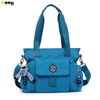 Wholesale Big Womens Bags - Wholesale-ANNY-waterproof large capacity causal womens tote bag,10 colors big nylon shoulder bags for women,vintage bolsa feminina