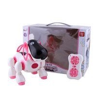 jouet robot pour chiens achat en gros de-Nouvelle arrivée intelligente jouet chien infrarouge télécommande série RC chien mignon robot chien livraison gratuite