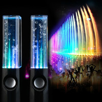 Wholesale Notebook Products - 2015 New Product Fashion water speaker colorful audio subwoofer notebook mini audio desktop speaker audio water dance sound Speaker