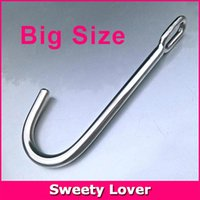 Wholesale Handling Women Sex - Wholesale-Big Size Stainless Steel Metal Anal Hook Butt Plug with Handle Ring Sex Toys for Men Women Gay, Unisex Product, Sex Products