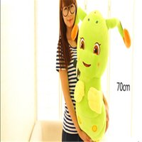 Grossiste-Uniquement 20cm / 30cm / 50cm Caterpillar Peluche Toy Cartoon Animal Shine Poupée Et Talking Bolster Loisirs Stuffed Cadeau D'anniversaire TY207