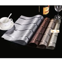 Wholesale Hotel Christmas Party Table Decoration - European Classic Table Placemats Waterproof PVC Insulation Color Art Mats Cloth Restaurant Hotel Decoration Online SD742