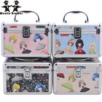 Wenjie Brother New Design Viaggio Make Upbox con specchio Trucco Custodia Beauty Case Cosmetic Bag Lockable Jewelry Box per Lady Gift
